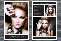 Model Comp Card Template with Free Model Comp Card Template
