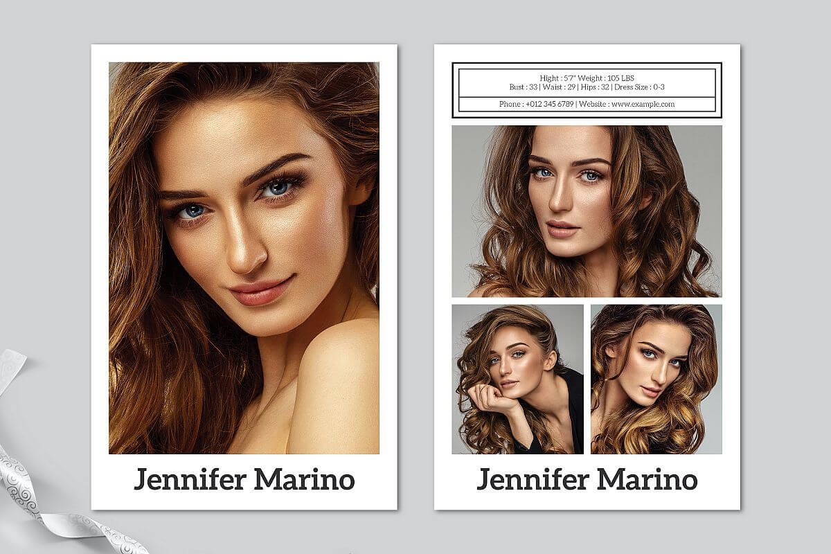 Model Comp Card Template with Zed Card Template