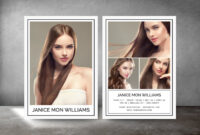 Modeling Comp Card, Fashion Model Comp Card, Comp Card Template, Photoshop  And Elements Template, Instant Download within Download Comp Card Template