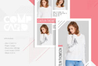 Modeling Comp Card | Fashion Model Comp Card Template regarding Comp Card Template Psd