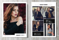 Modeling Comp Card | Fashion Model Comp Card Template with Download Comp Card Template