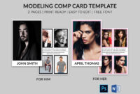 Modeling Comp Card | Model Agency Zed Card | Photoshop & Ms Pertaining To Free Zed Card Template