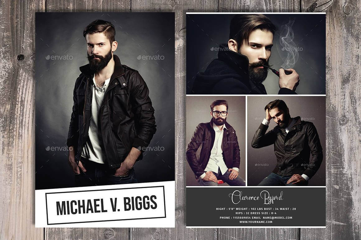 Modeling Comp Card Template, Fashion Model Comp Card in Comp Card Template Download