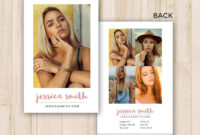 Modeling Comp Card Template – Photoshop Psd *instant Download* throughout Comp Card Template Psd
