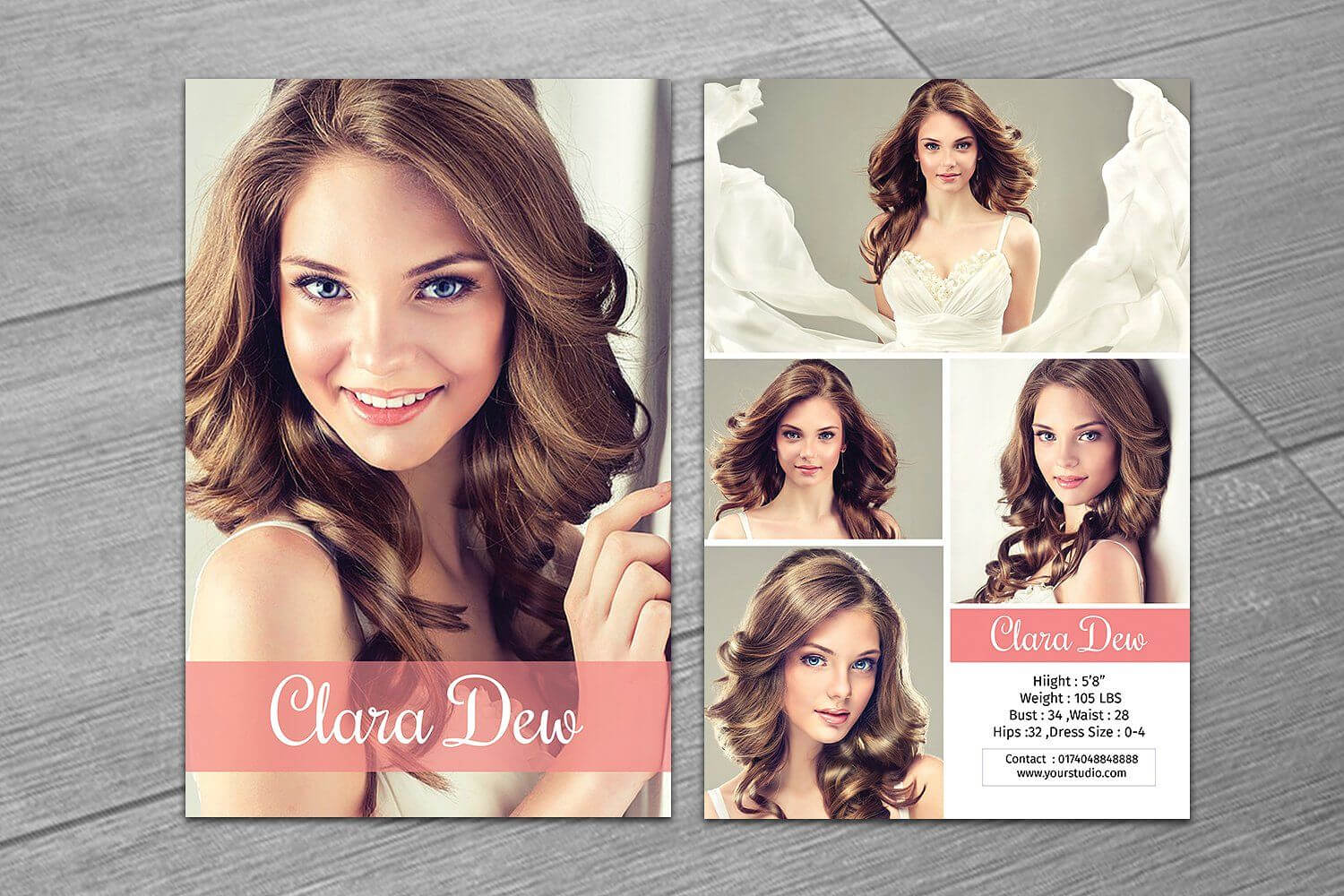 Modeling Comp Card Template V247Template Shop On With Regard To Free Model Comp Card Template Psd