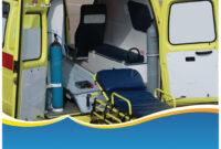 Modern Ambulance Powerpoint Template (Ppt Slide) within Ambulance Powerpoint Template