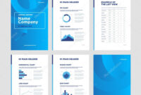 Modern Annual Report Template With Cover Design And Throughout Illustrator Report Templates