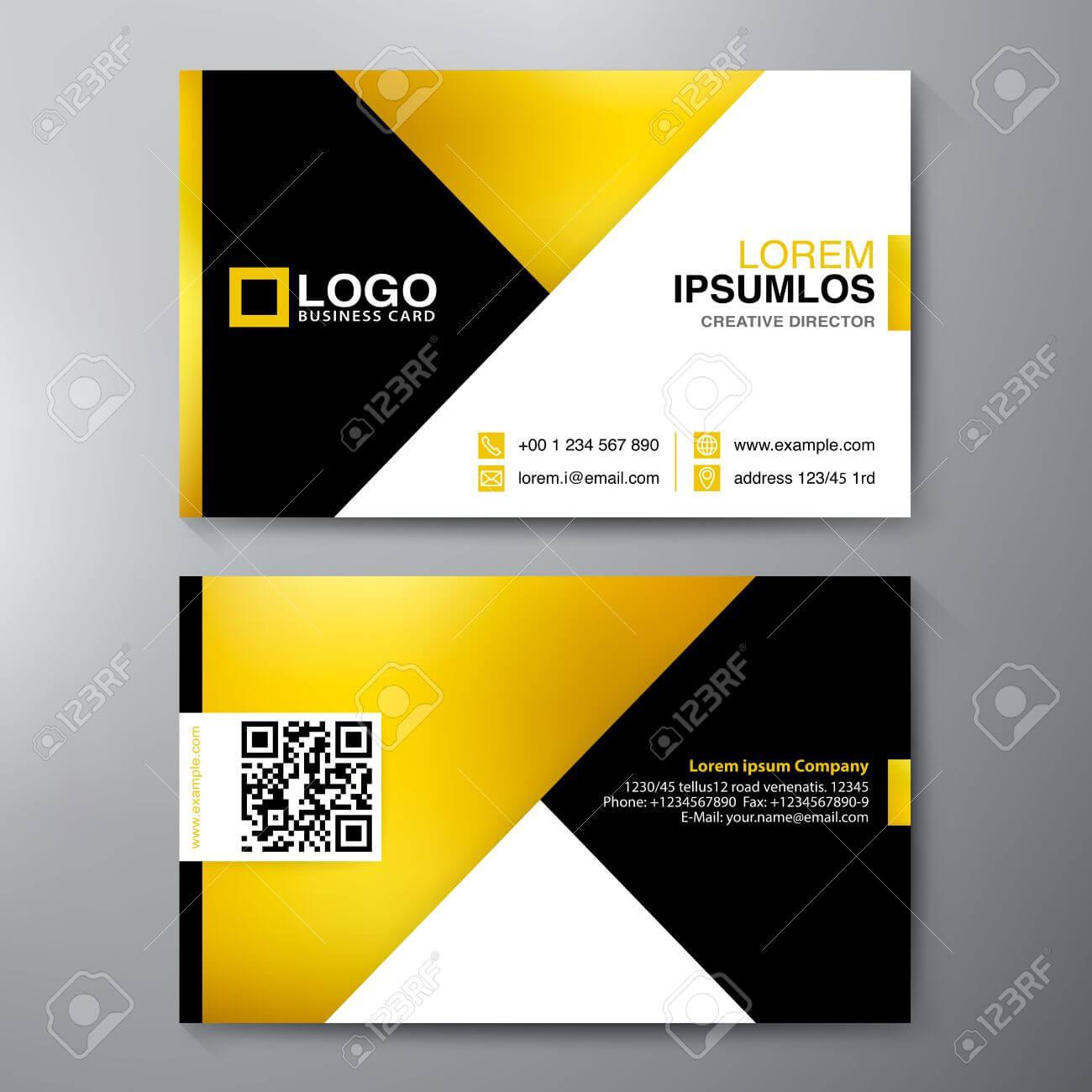 Modern Business Card Design Template. Vector Illustration With Regard To Modern Business Card Design Templates