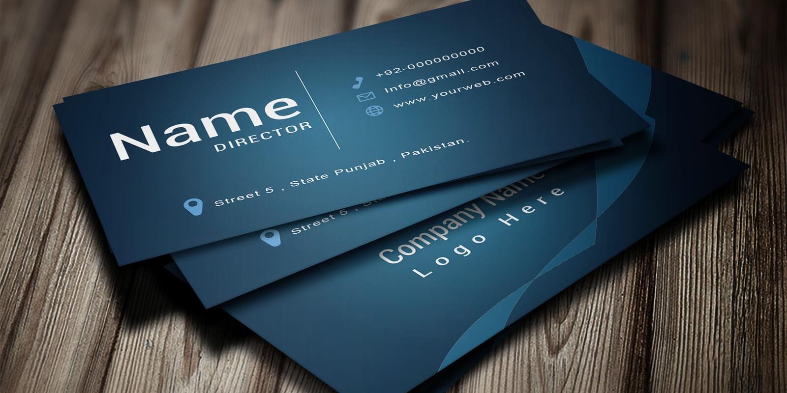 Modern Business Card Template regarding Buisness Card Template
