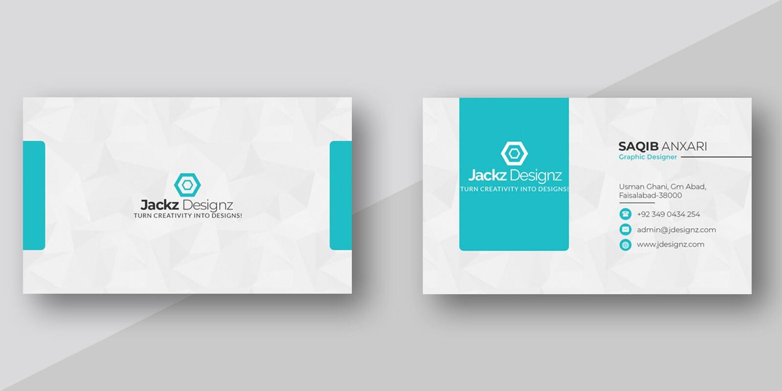 Modern Business Card Template throughout Buisness Card Template