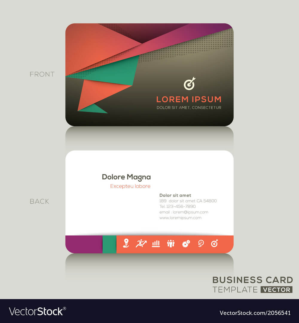 Modern Business Cards Design Template Inside Modern Business Card Design Templates
