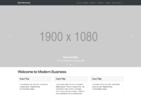 Modern Business – Full Website Template For Bootstrap 4 within Blank Html Templates Free Download