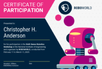 Modern Certificate Of Participation Template Template in Certificate Of Participation In Workshop Template