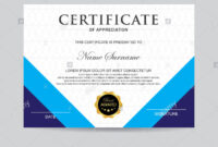 Modern Certificate Template And Background Stock Photo inside Borderless Certificate Templates