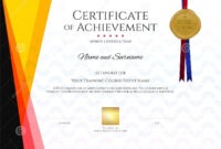 Modern Certificate Template With Elegant Border Frame for Landscape Certificate Templates