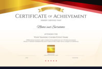 Modern Certificate Template With Elegant Border with High Resolution Certificate Template