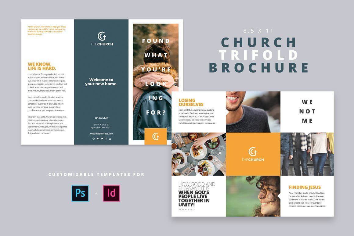 Modern Church Trifold Brochure - Brochures | Design: Graphic Pertaining To Welcome Brochure Template