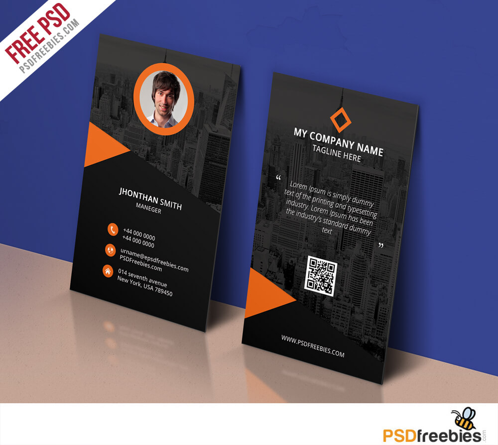 Modern Corporate Business Card Template Free Psd with Name Card Photoshop Template