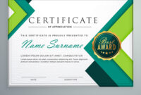 Modern Geometric Shape Certificate Design Template in Design A Certificate Template