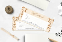 Modern Gift Certificate Template pertaining to Company Gift Certificate Template