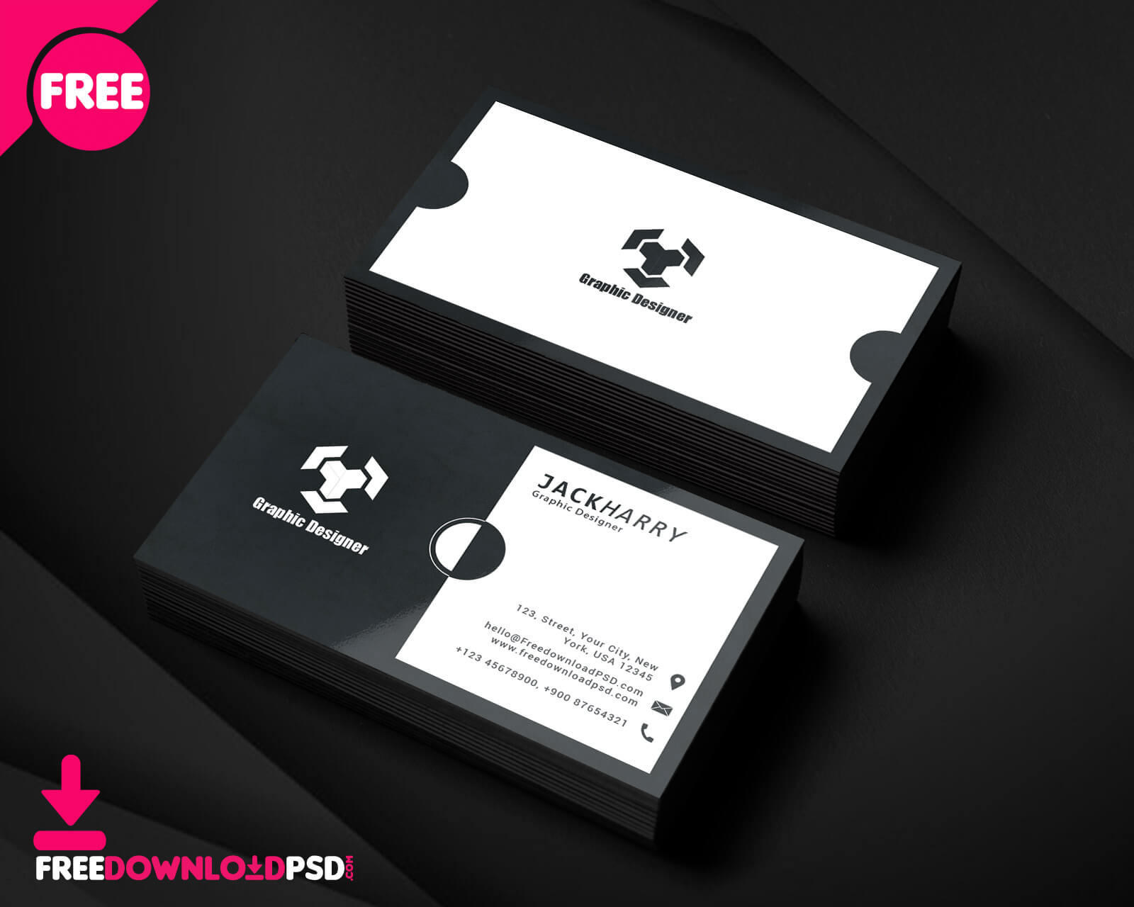 Modern Graphic Designer Business Card Psd Template intended for Templates For Visiting Cards Free Downloads