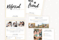 Modern Hand Lettering Referral Card Set – Strawberry Kit for Referral Card Template