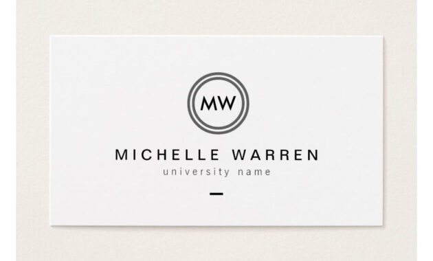 Modern Initials I Graduate Student Business Card | Zazzle within Graduate Student Business Cards Template