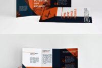 Modern Orange Trifold Brochure Template Indesign Indd – A4 for Tri Fold Brochure Template Indesign Free Download