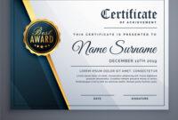 Modern Premium Certificate Award Design Template inside Award Certificate Design Template