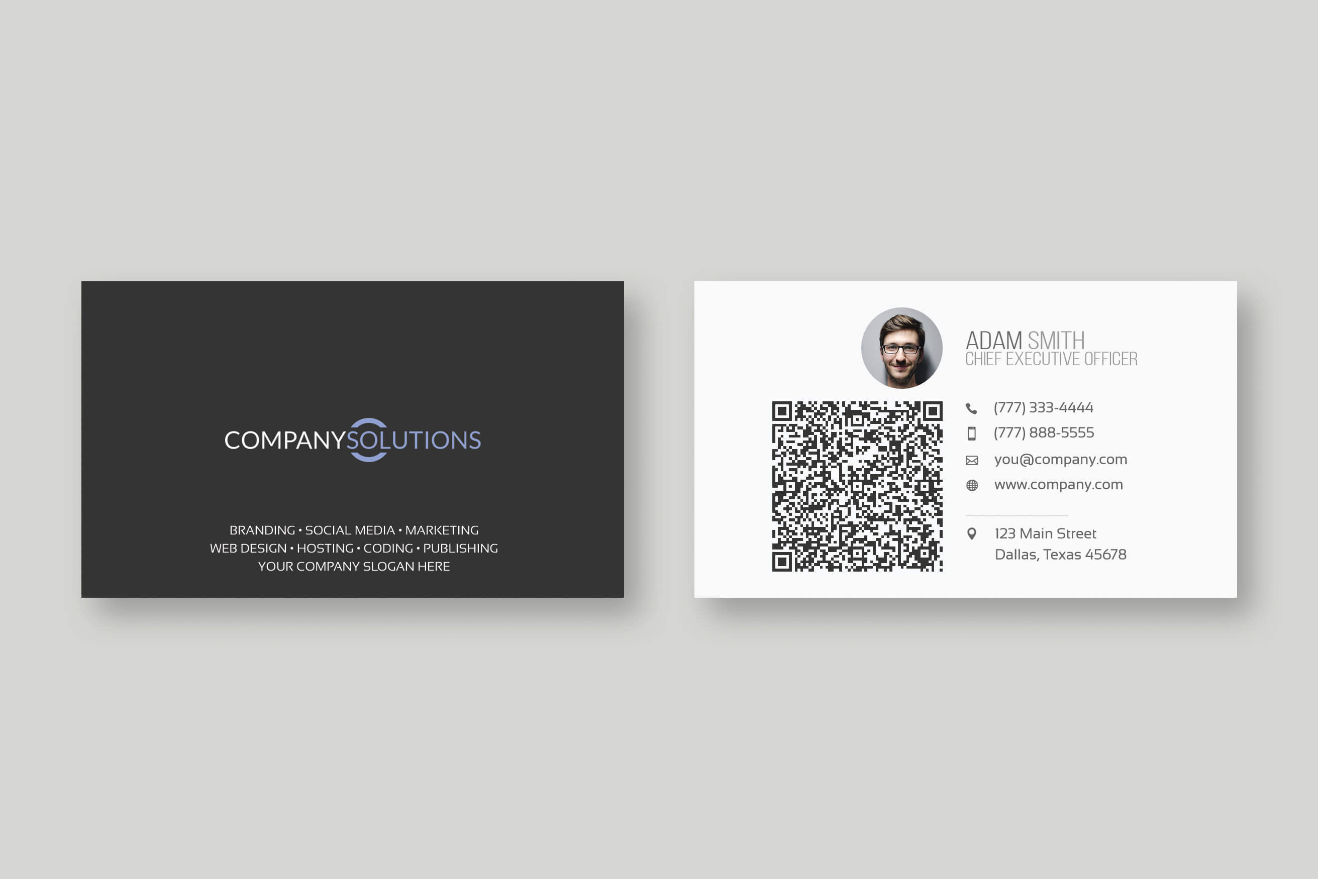 Modern Qr Code Business Card Template Throughout Qr Code Business Card Template