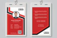 Modern Red Id Card Template regarding Media Id Card Templates