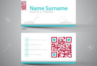 Modern Simple Light Business Card Template With Big Qr Code With Qr Code Business Card Template