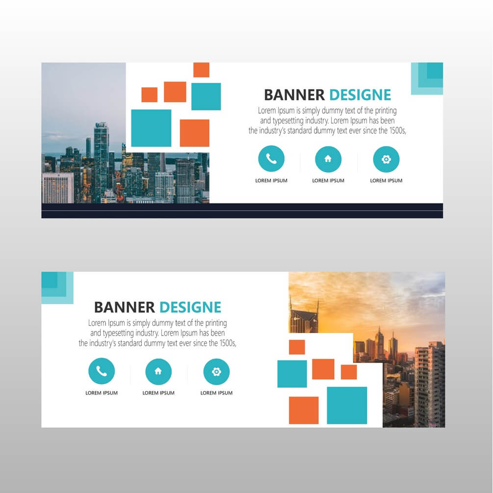 Modern Web Banner Template Free Download within Website Banner Templates Free Download