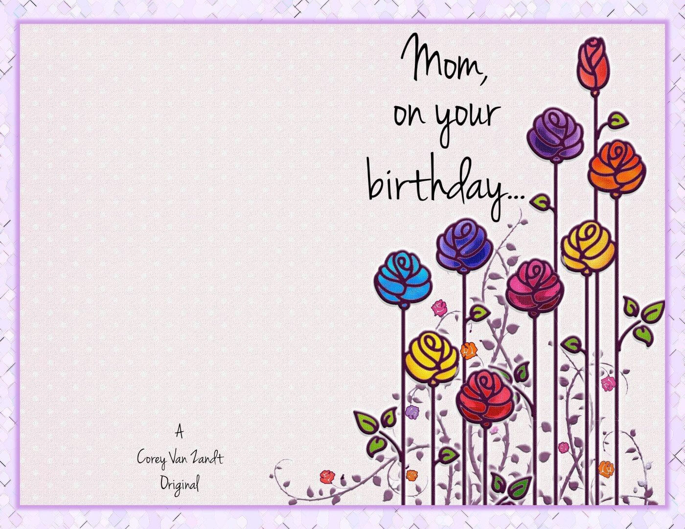 Mom Birthday Card Template   Theveliger In Mom Birthday Card Template