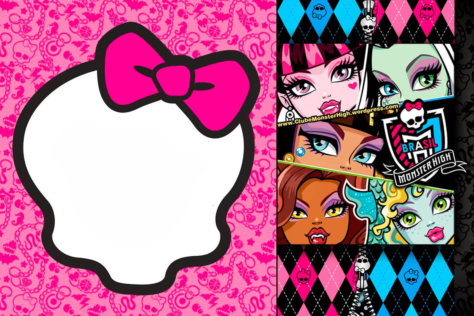 Monster High Birthday Invitation in Monster High Birthday Card Template