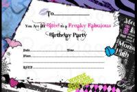 Monster High Invitations Download Free | Monster High regarding Monster High Birthday Card Template