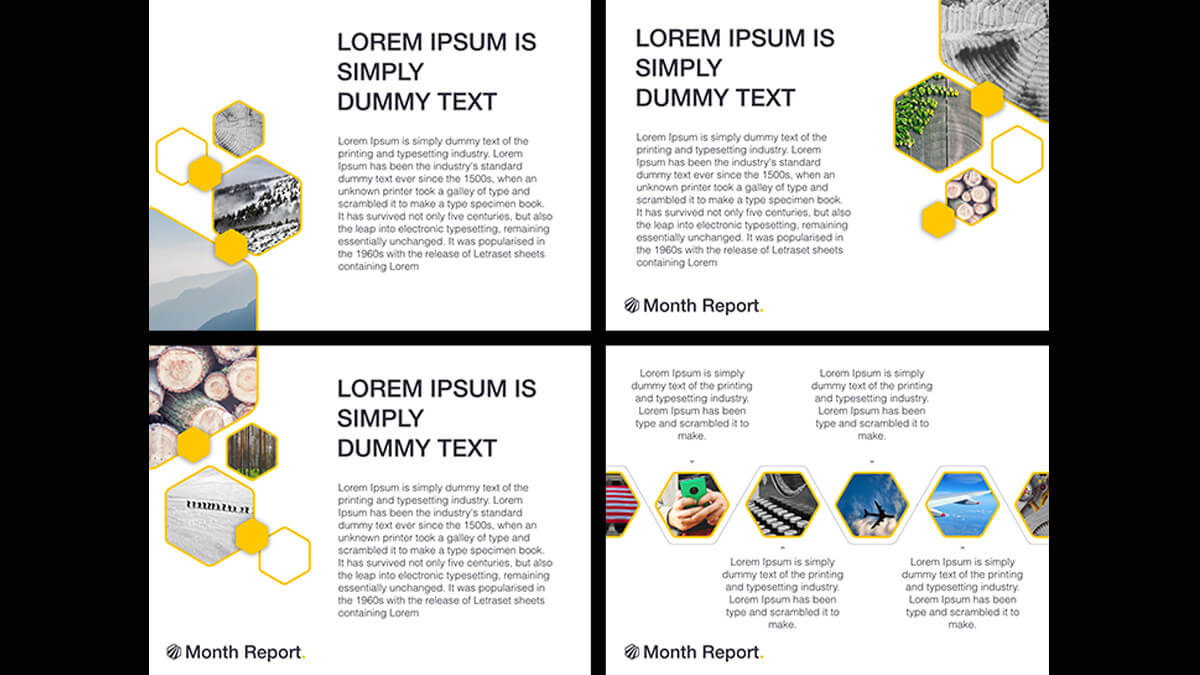 Month Report Powerpoint Template with regard to Monthly Report Template Ppt