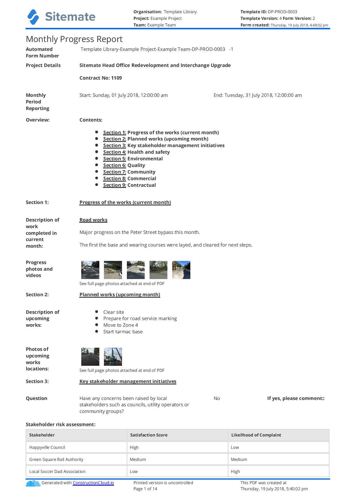 Monthly Construction Progress Report Template: Use This regarding How To Write A Monthly Report Template