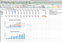 Monthly Digital Marketing Kpi Reporting Template   Social intended for Social Media Marketing Report Template