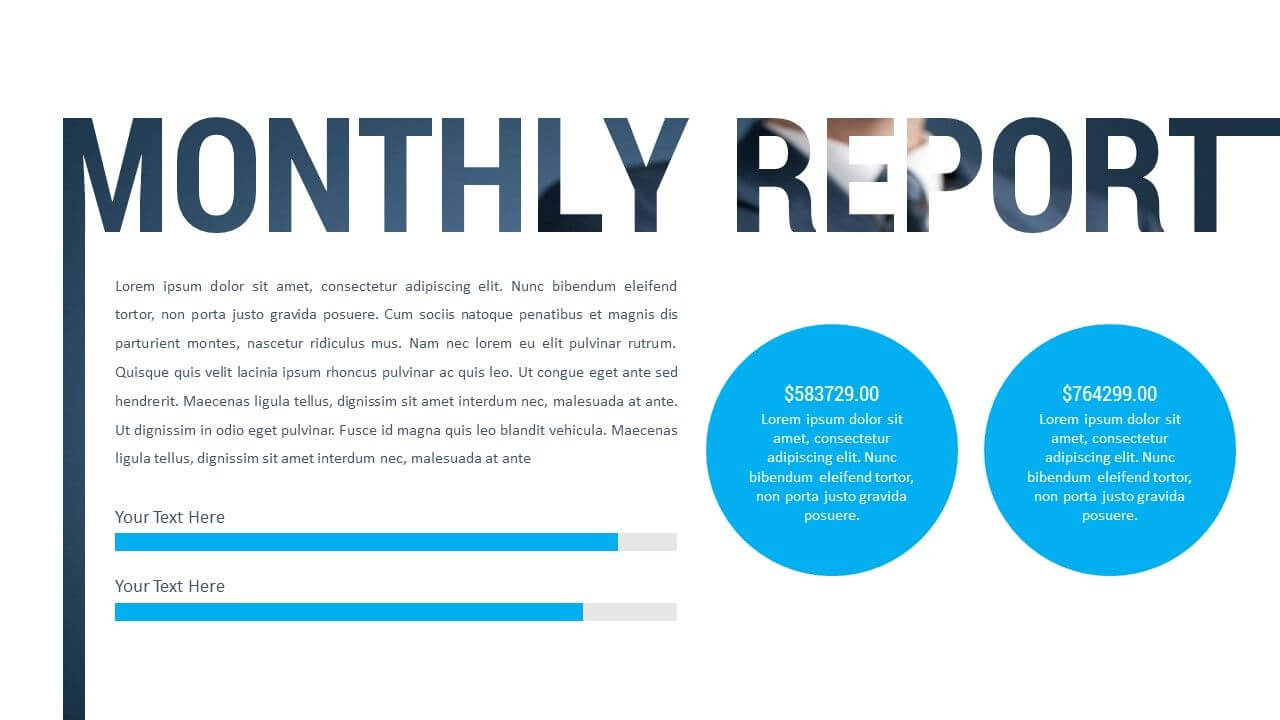 Monthly Report Powerpoint Presentation Our Top Rated in Monthly Report Template Ppt