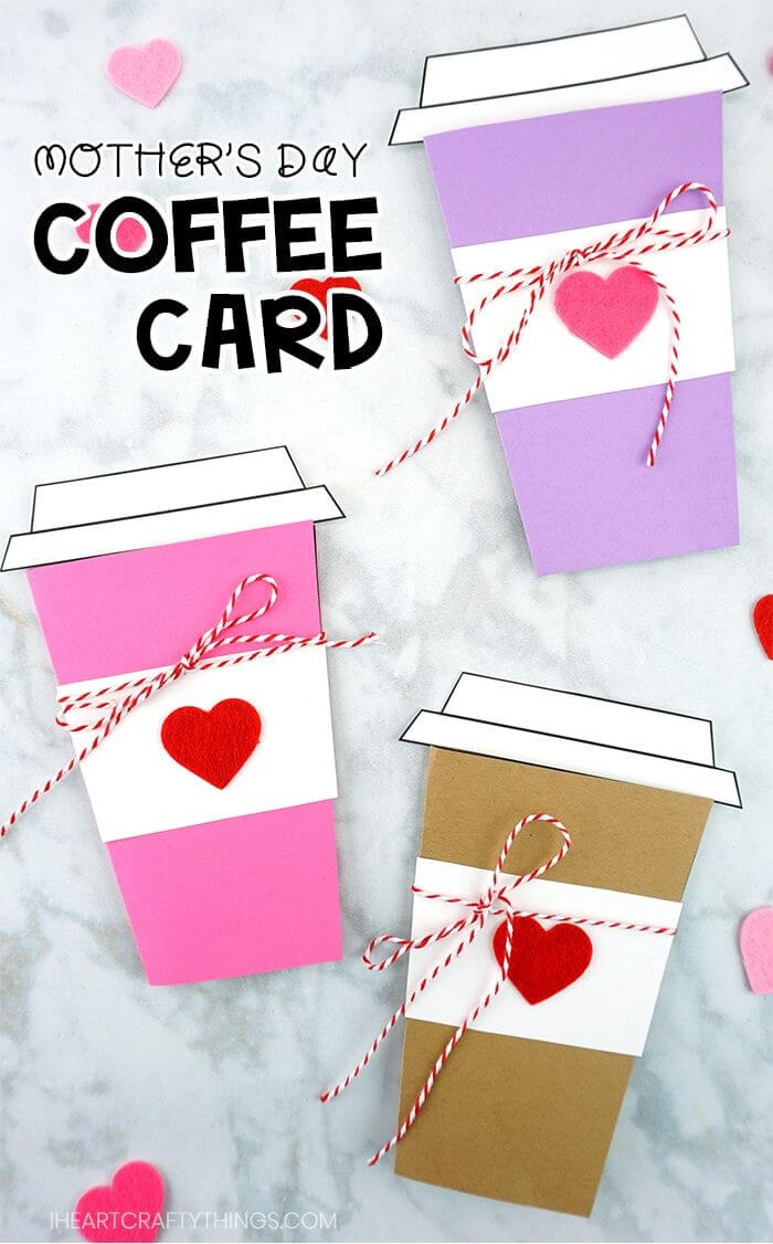Mother's Day Coffee Card Template | I Heart Crafty Things inside Mothers Day Card Templates