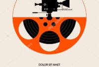 Movie Film Festival Poster Template Design Modern Retro with regard to Film Festival Brochure Template