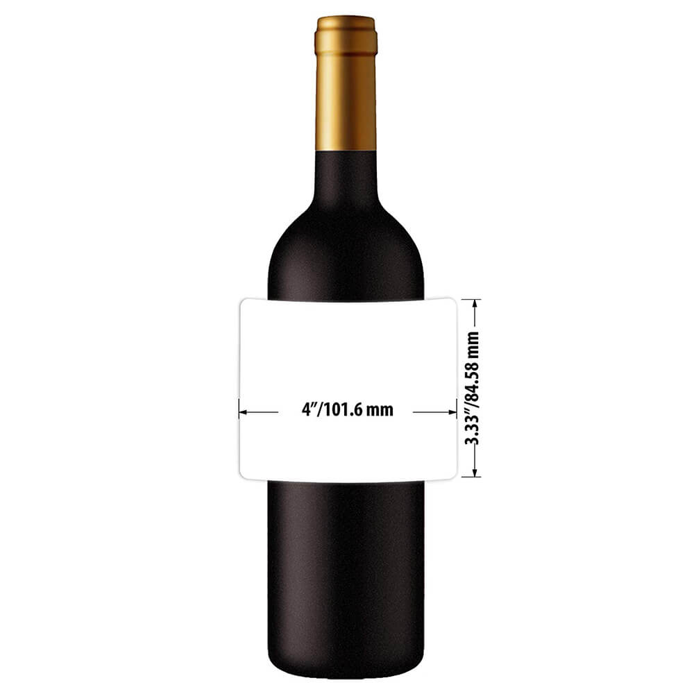 Mr-Label Waterproof Matte White Wine Label - For Inkjet & Laser Printer -  For 750Ml Wine Bottle - Tear-Resistant - For Homemade Wine/wedding throughout Blank Wine Label Template