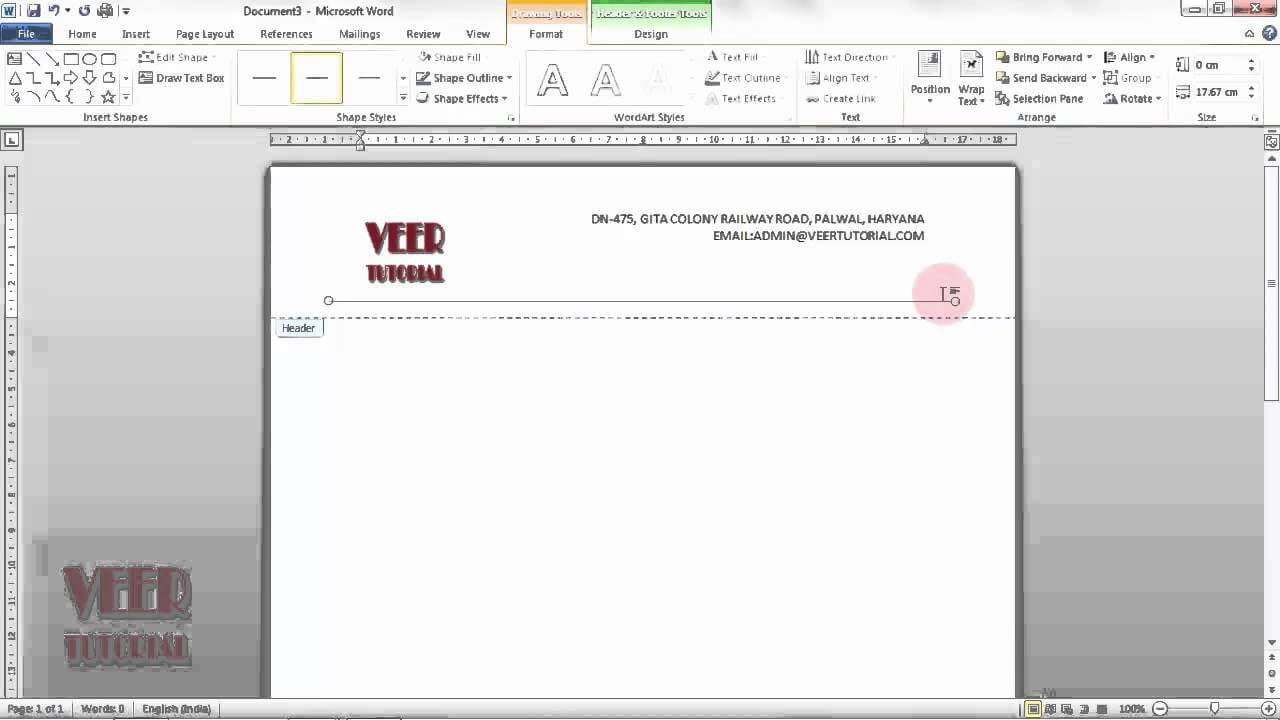 Ms Word 2010 | How To Create Custom Header And Footer Pertaining To Header Templates For Word