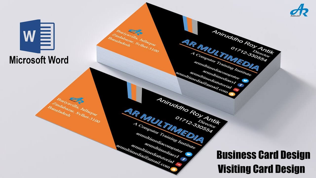Ms Word Tutorial: How To Create Professional Business Card Design In Ms  Word|Biz Card Template 2013 Pertaining To Word 2013 Business Card Template