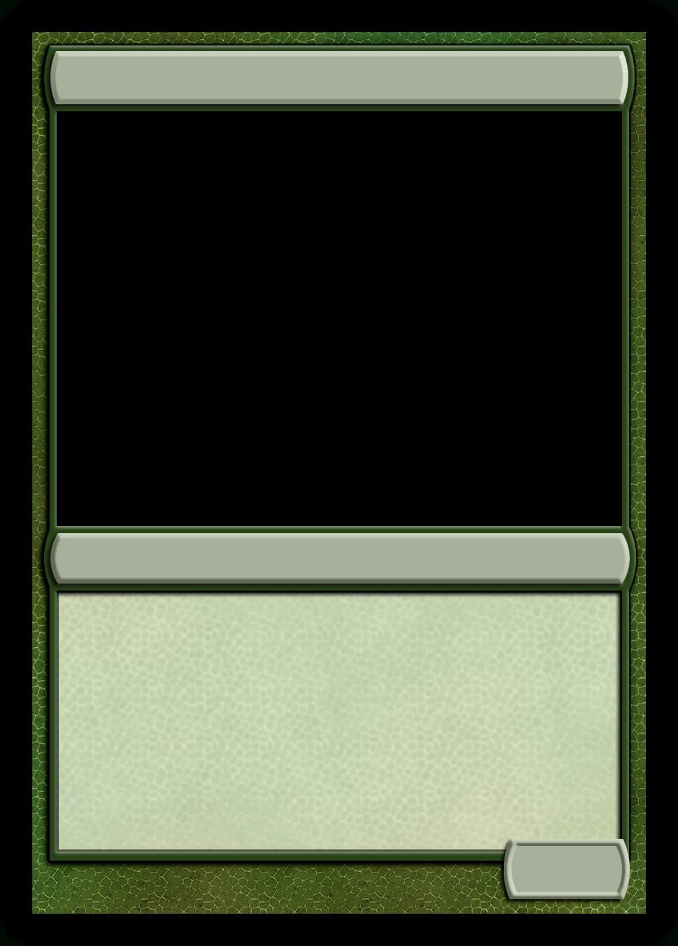 Mtg Monogreen Creature Template | Magic Cards, Magic The With Regard To Magic The Gathering Card Template