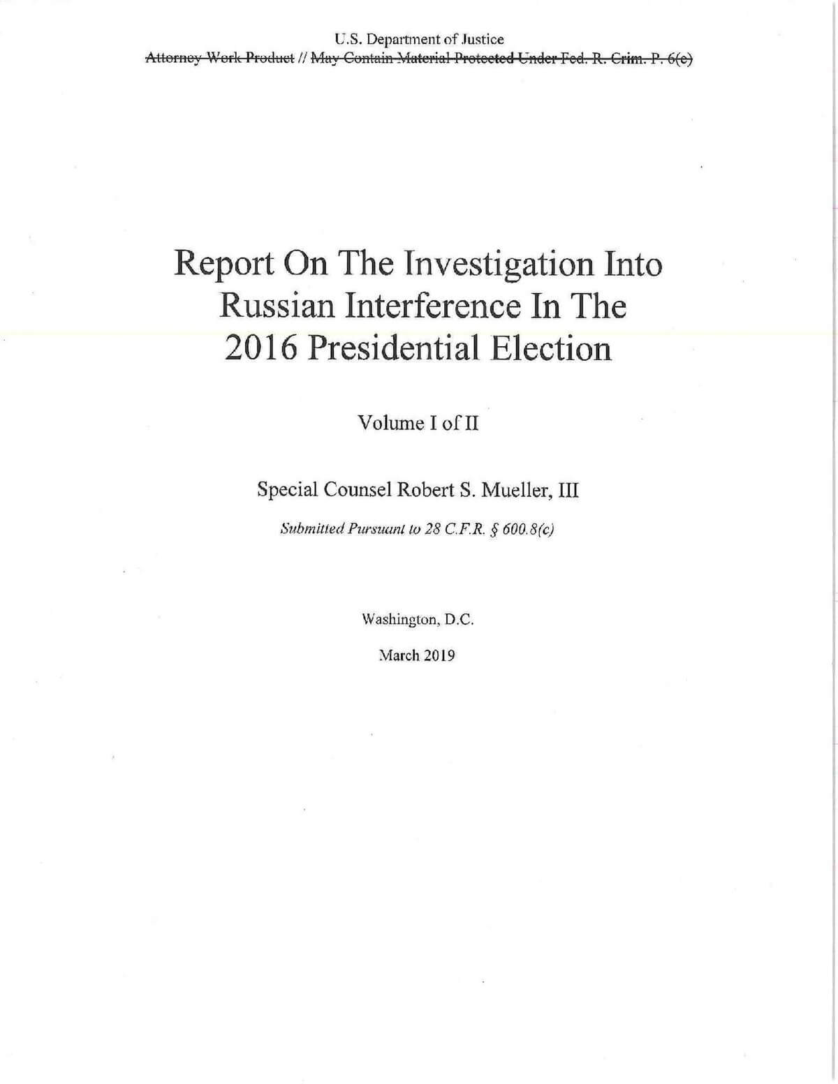 Mueller Report - Wikipedia with regard to Sample Fire Investigation Report Template