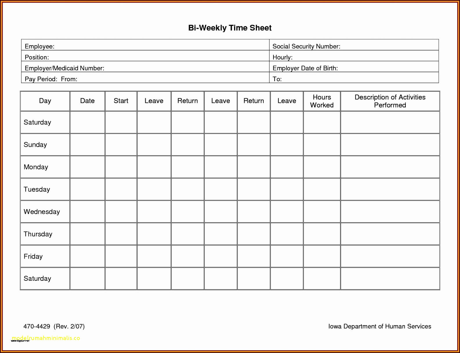 Multiple Employee Timesheet Free Then Awesome Biweekly Within Weekly Time Card Template Free