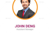Multipurpose Business Id Card Template for Work Id Card Template