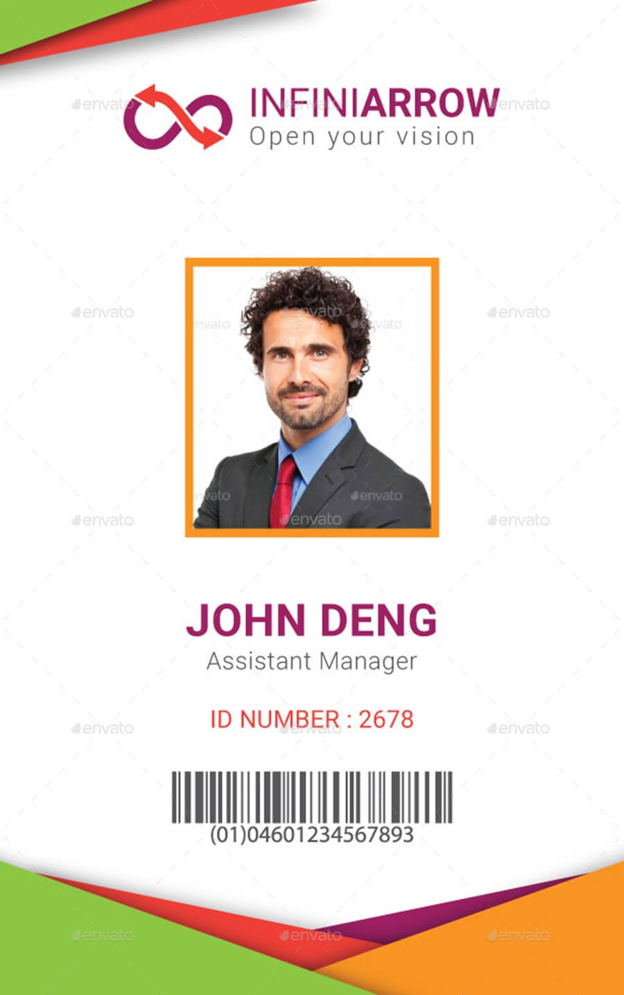 Multipurpose Business Id Card Templatedotnpix | Graphicriver Intended For Sample Of Id Card Template